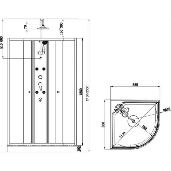 Dušas kabīne 5502 DUSCHY