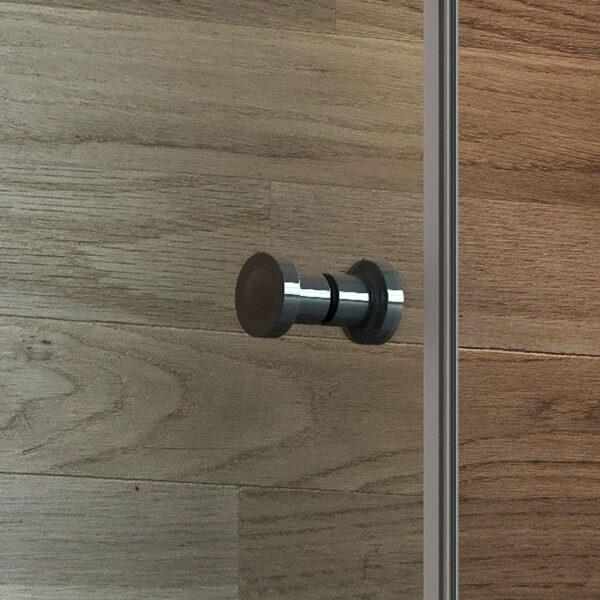 Душевая дверь Round Black 5252 (прозрачная)